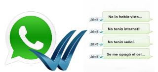 whatsapp click azul
